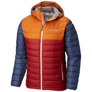 Куртка чоловіча утеплена Columbia Powder Lite™ Hooded Jacket Red Element - фото №1