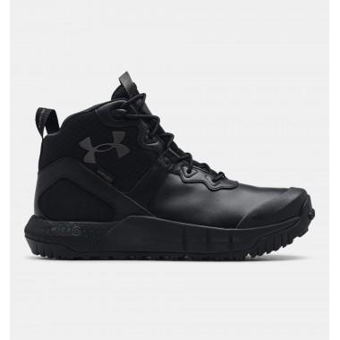 Мужские черные ботинки UA MG Valsetz Mid LTHR WP - описание, характеристики, отзывы